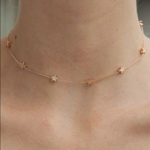 brandy melville gold star necklace